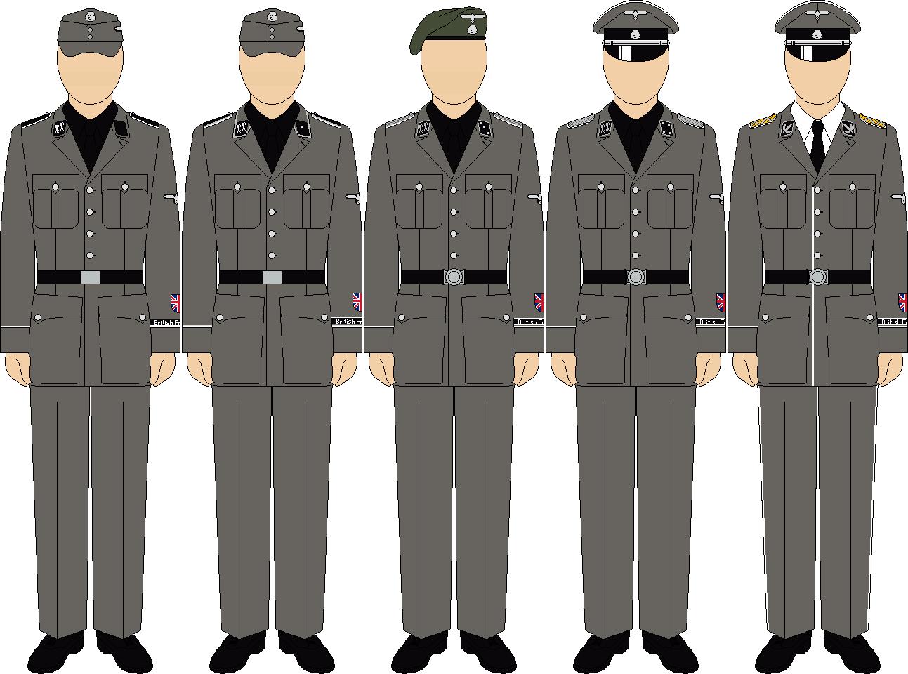 WaffenSS Service 2 British Free Corps