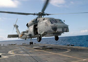 800px-US Navy SH-60B Seahawk USS Stephen W. Groves