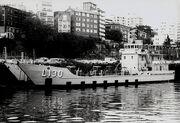 HMAS Wewak in dock