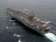 USS CVN-65 Enterprise on Atlantic Ocean