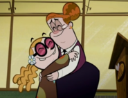 Hilary and Bessie hugging