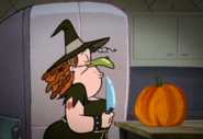 Hilary dressed as a witch for Halloween