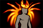 Costume Fiery Crown Wings