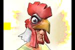 Costume Archer Chicken Hat