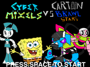 Cyber Mixels Vs Cartoon Brawl Stars Title Screen