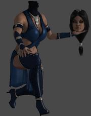Kitana's head and body