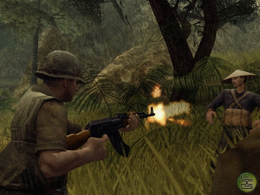 File:A US Army soldier firing an AK47 at a Viet Cong member.jpg