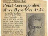 Point Correspondent Mary Hyre Dies at 54