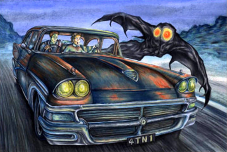 Scarberry and Mallette's Mothman Sighting | TheMothMan Wikia