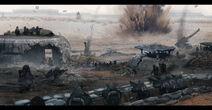 Trench battlefield