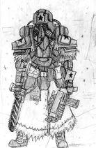 Soviet veteran trooper