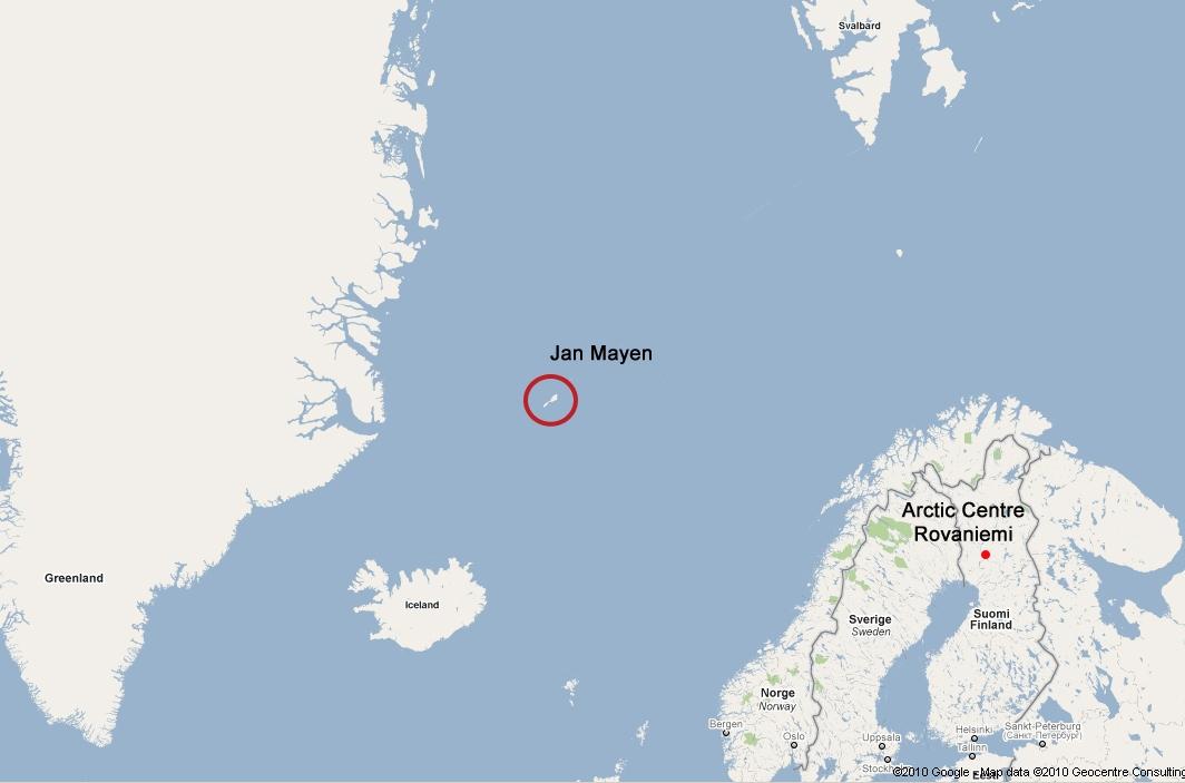 Image result for jan mayen iceland map