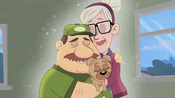 Olaf, Gertrude and Kiki hugging