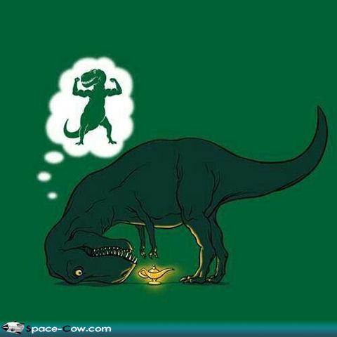 image t rex magic lamp funny comics dinosaur image jpg the