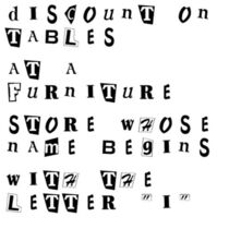 Discount on Tables at a Furniture Store