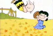 It's the great pumpkin charlie brown 7 - Lucy tricks Charlie Brown into trying to kick the football