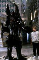 Bastian next to a giant
