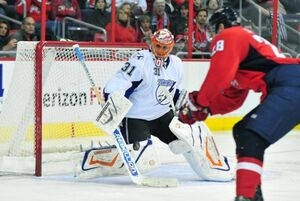 Tampa-Bay-Lightnings-goalie-Dwayne-Roloson-blocks-a-shot-in-Washington