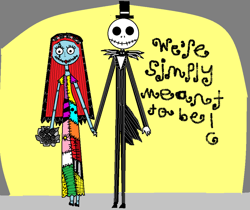 Image - Fan Made Jack and Sally\'s Wedding We\'re Simply Meant To Be ...