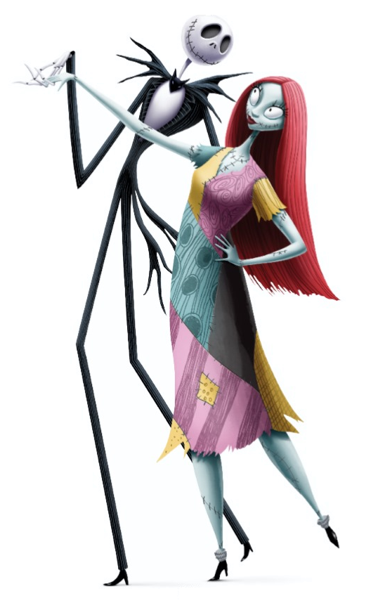 jack and sallypng - The Nightmare Before Christmas Jack And Sally