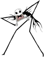 Jack Skellington Scary Face clipart