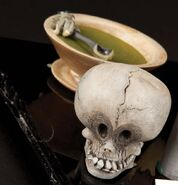 Sally's Soup Bowl and Skull