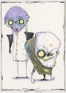 Early Concept Art Dr Finklestein and Igor