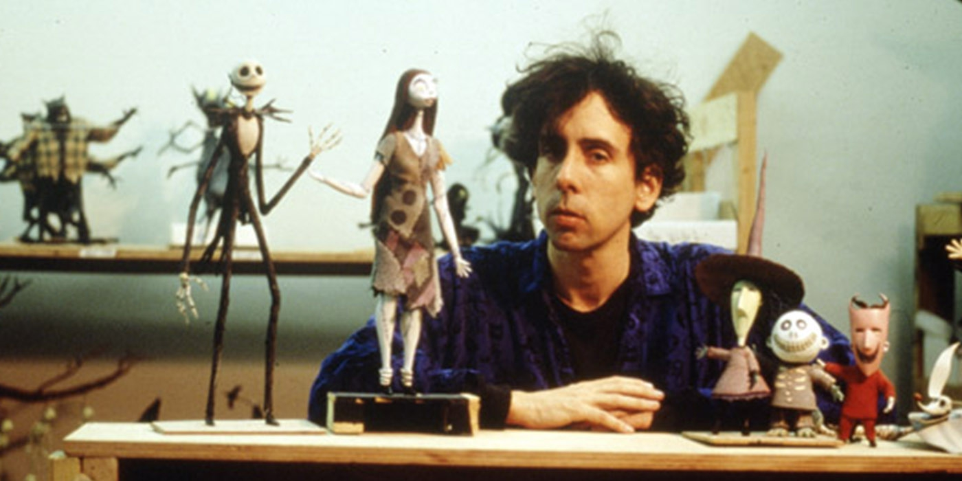 tim burton with some of the puppets - Tim Burtons The Nightmare Before Christmas