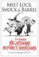 The Nightmare Before Christmas Lock, Shock & Barrel Poster