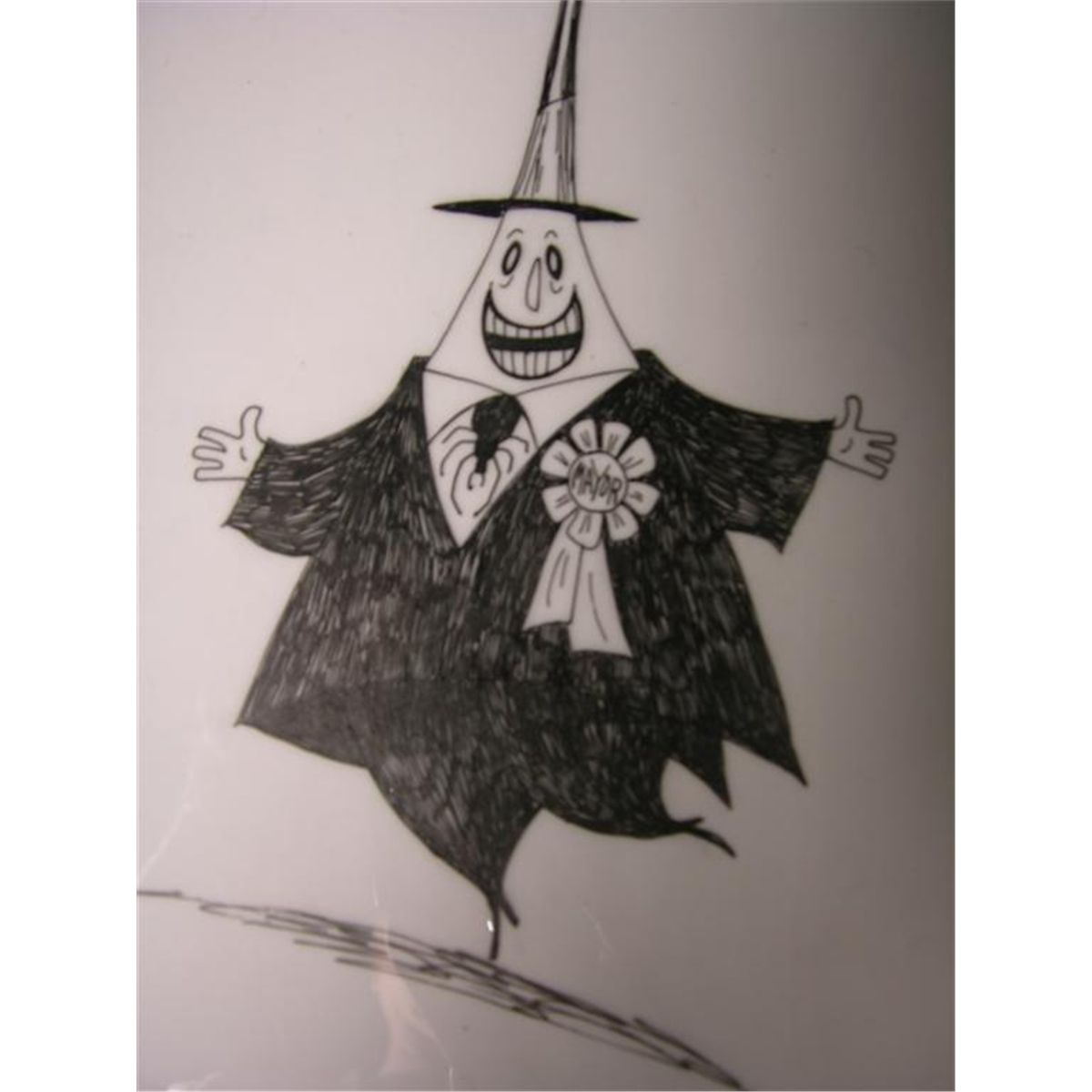 Old Fashioned Nightmare Before Christmas Characters Mayor Sketch ...
