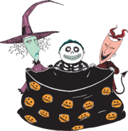 Mi stickerbook thenightmarebeforechristmas lockshockbarrel Trick or Treat 7b8d988f