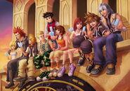 Kingdom-hearts-sora-kairi-lollipops-namine-olette-1193x840-video-games-kingdom-hearts-hd-art-wallpaper-preview