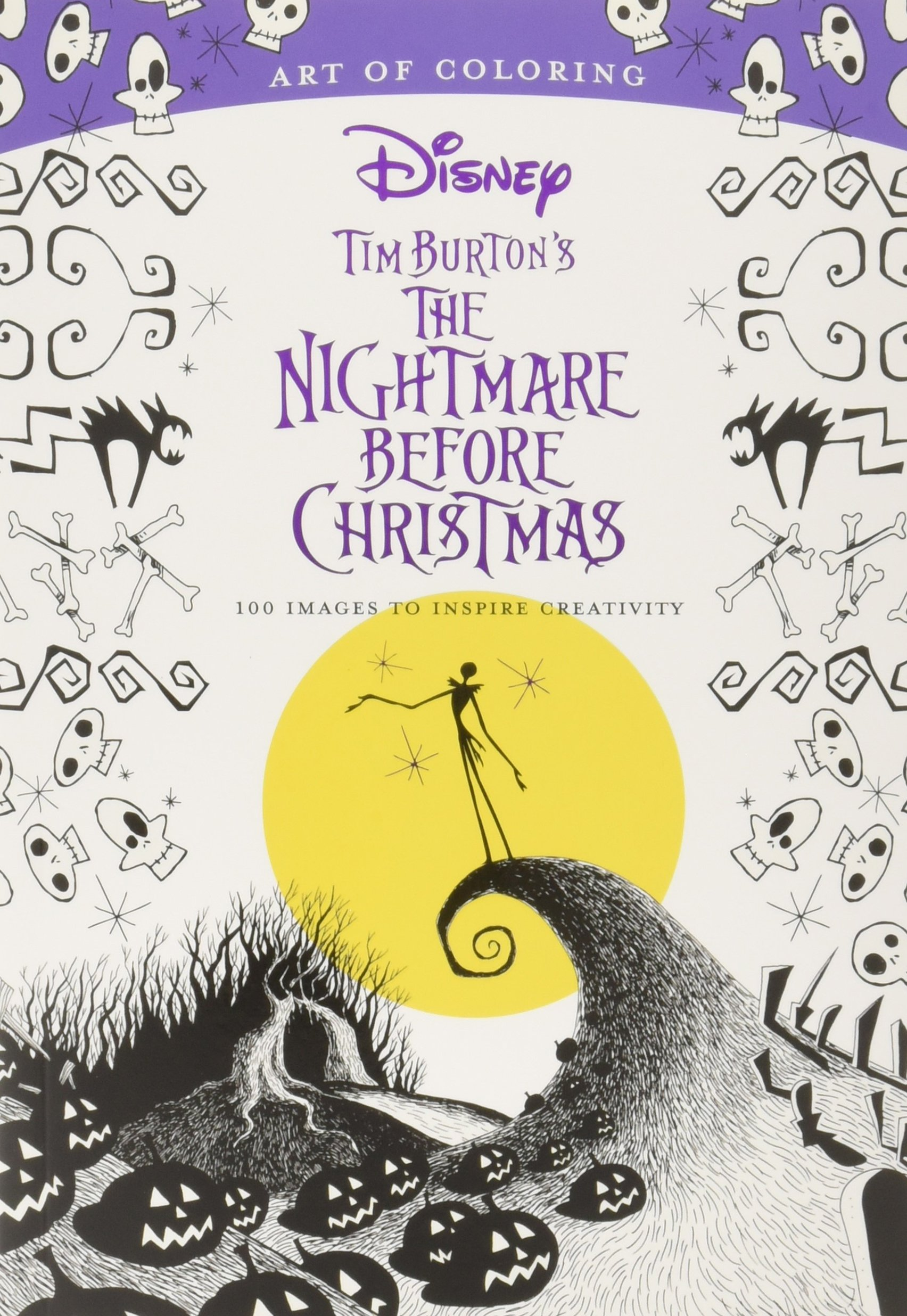 Tim Burton Nightmare Before Christmas Artwork.Art Of Coloring The Nightmare Before Christmas The
