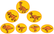 The Land Before Time Gang of Seven in Amber
