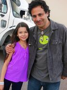 Nikki Hahn with Exec.Prod. Gabe Sachs at ABQ Studios, NM. on set of The Night Shift 2013