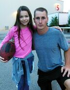 Nikki and Brendan Fehr on set of The Night Shift 2013