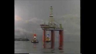 Slæbebåden Theodor • Theodor og Boreplatformen