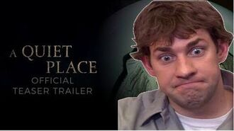 "THE QUIET OFFICE - Jim From The Office Stars In ""A Quiet Place"" - PARODY TRAILER-0"