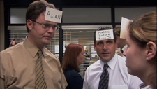 Pam & Dwight trying to guess their races