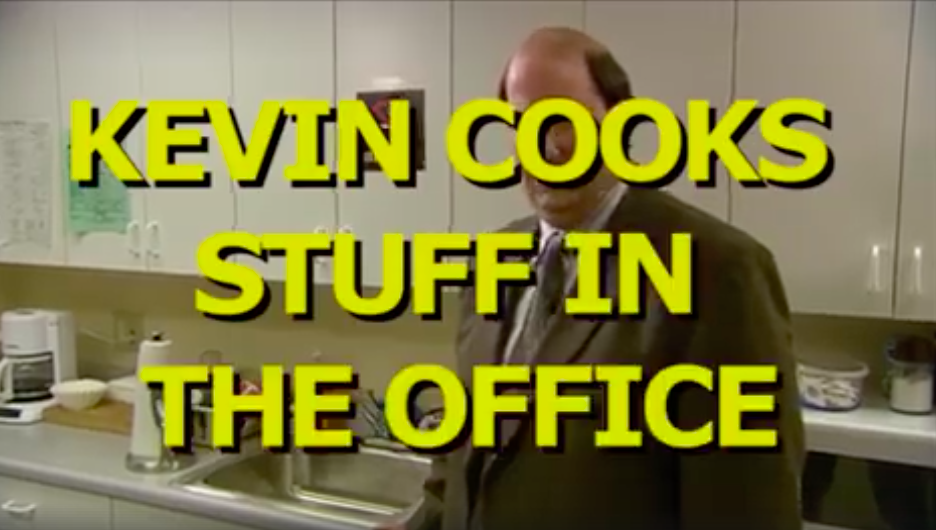 Kevin Cooks Stuff In The Office