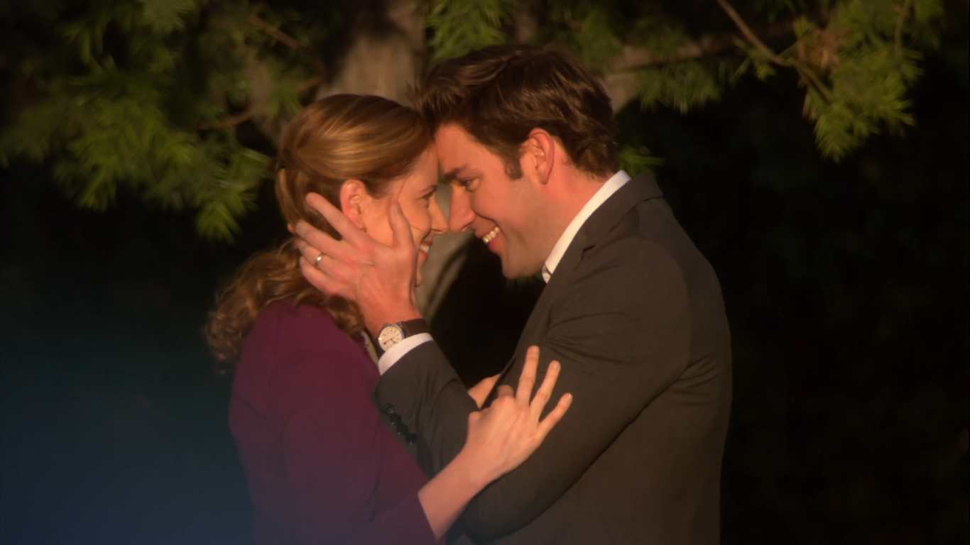 ... Jim tells Pam that he is really glad that they're trying to fix their  problems as he leaves the office to go to Philadelphia once again. Pam goes  ...