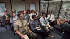 The Employees meeting for Diversity Day