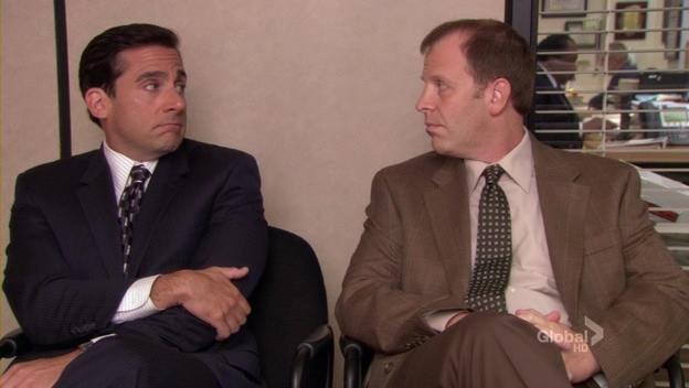Image result for frame toby office episode