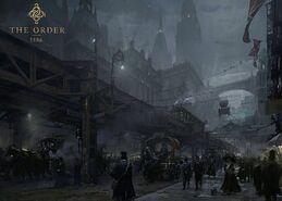 Орден - концепт-арт туманный Лондон