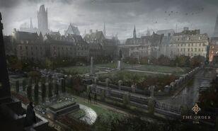 Орден - концепт-арт дворца и парка