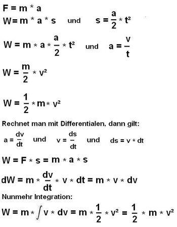 Formel Kinetische Energie