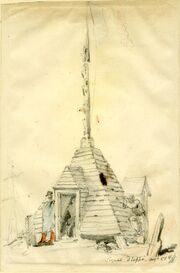 A signal tower at Dieppe by George Hayter