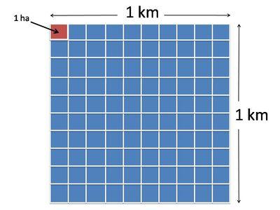 1 km2