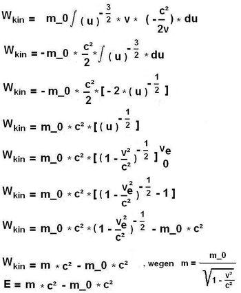 Äquivalenz Masse Energie