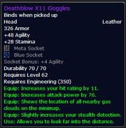 Deathblow X11 Goggles
